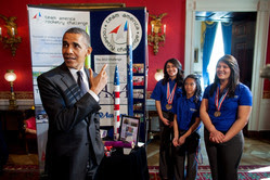 President at the Science Fair