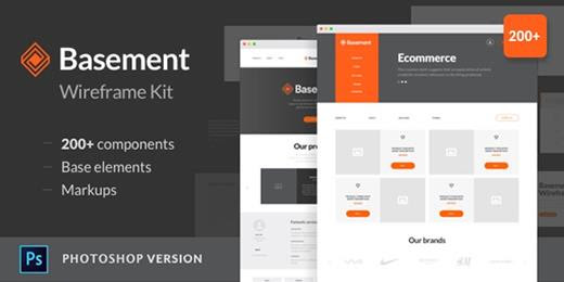 eCommerce Wireframe Kit