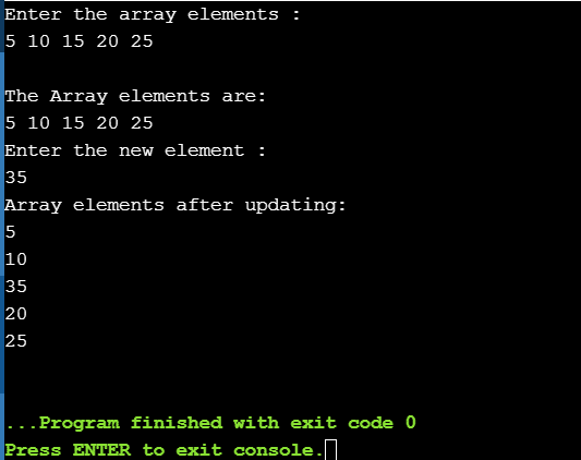 Updating an element in an array in Java