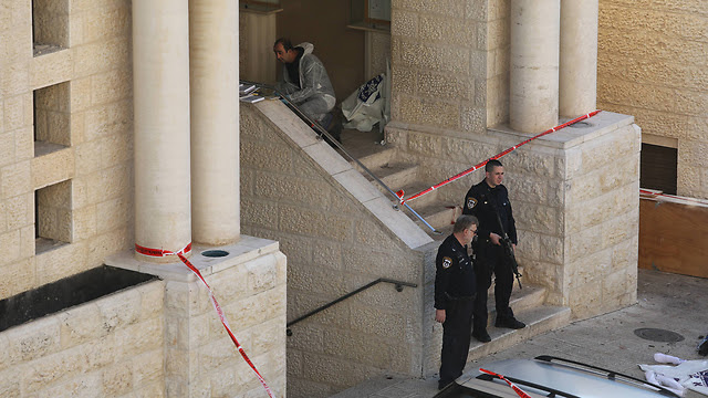 The scene of the attack (Photo: Gil Yohanan)