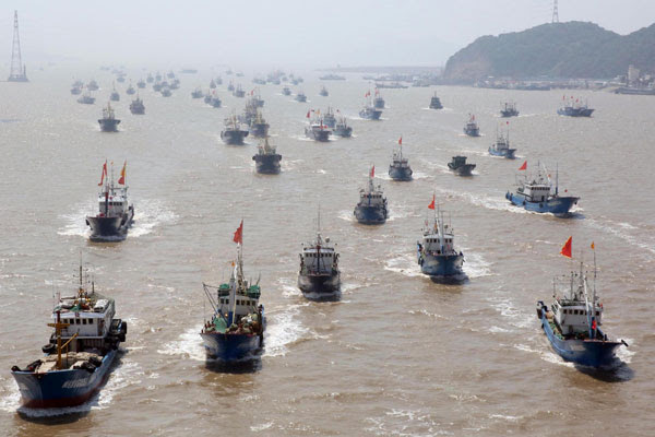 Fishing begins again in East China Sea