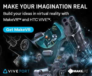 Make your imagination real. Build your ideas in virtual reality with  MakeVR® and HTC Vive™