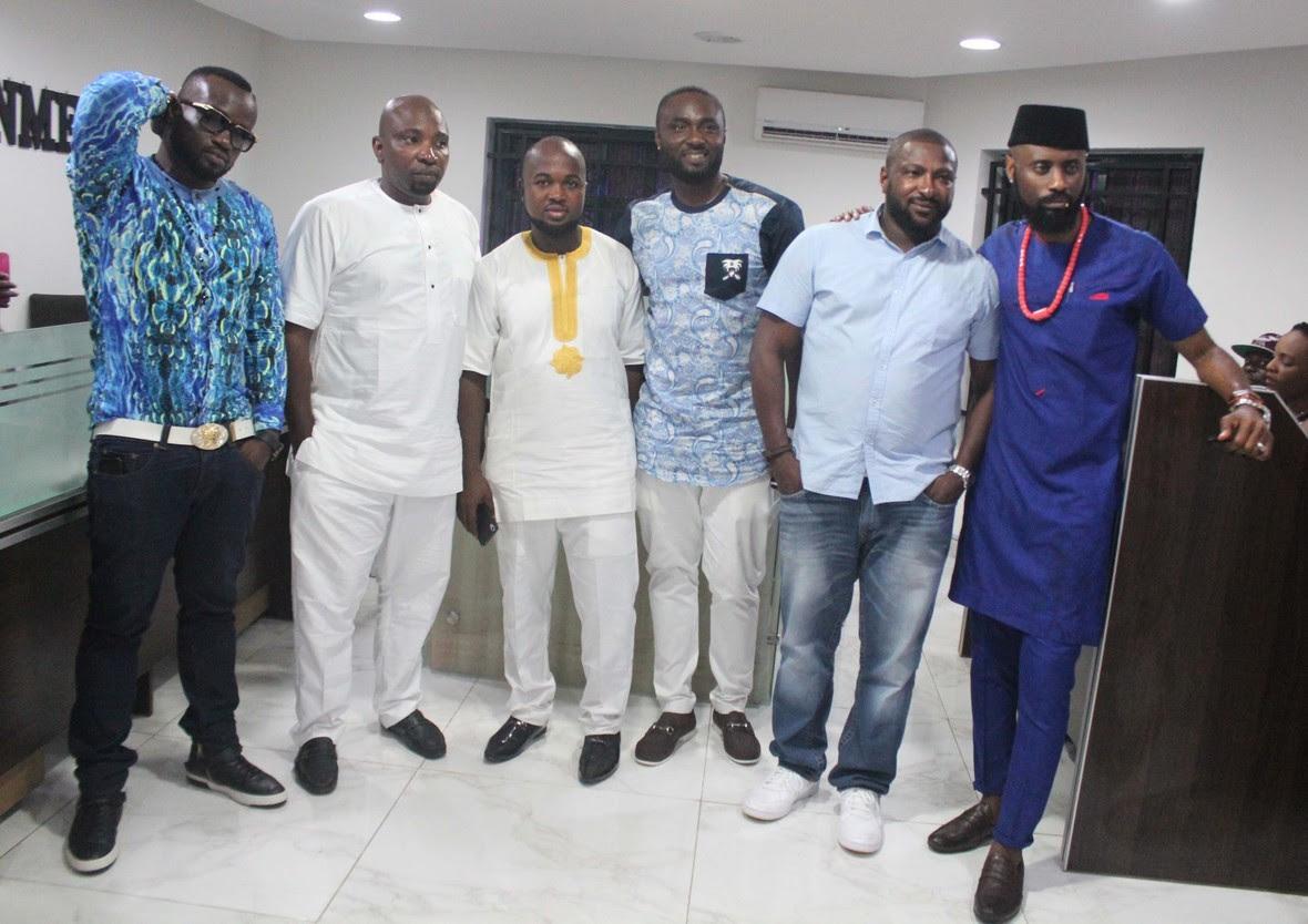 L-R  Tony Okoye  Wole Adeniyi  Seun Apara  Wande Adeniyi  a guest and iKEchukwu Onuorah at the launch