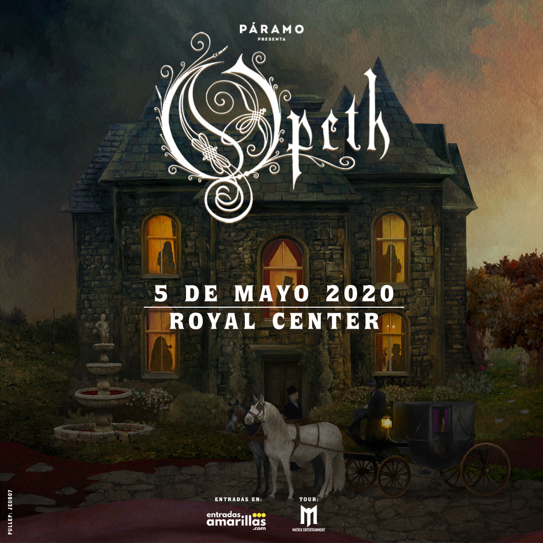 Opeth en Colombia 2020 Boletas