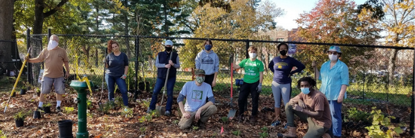 Fall 2020 POP Learning Orchard pollinator garden planting