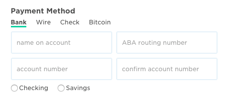 payment method box