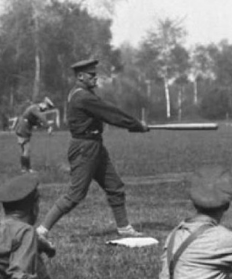 Americans playing baseball in France in 1918