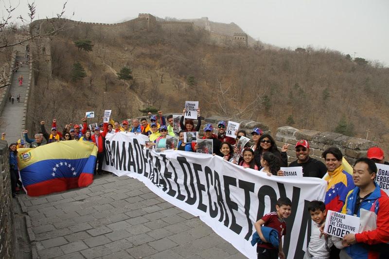 "Desde la Gran Muralla China dicen: ""Obama, deroga el decreto ya"""