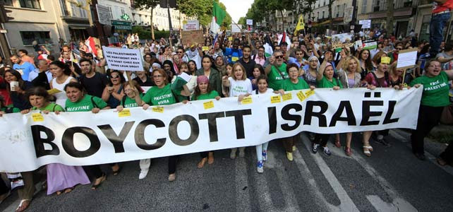 Protesta en París contra Israel.