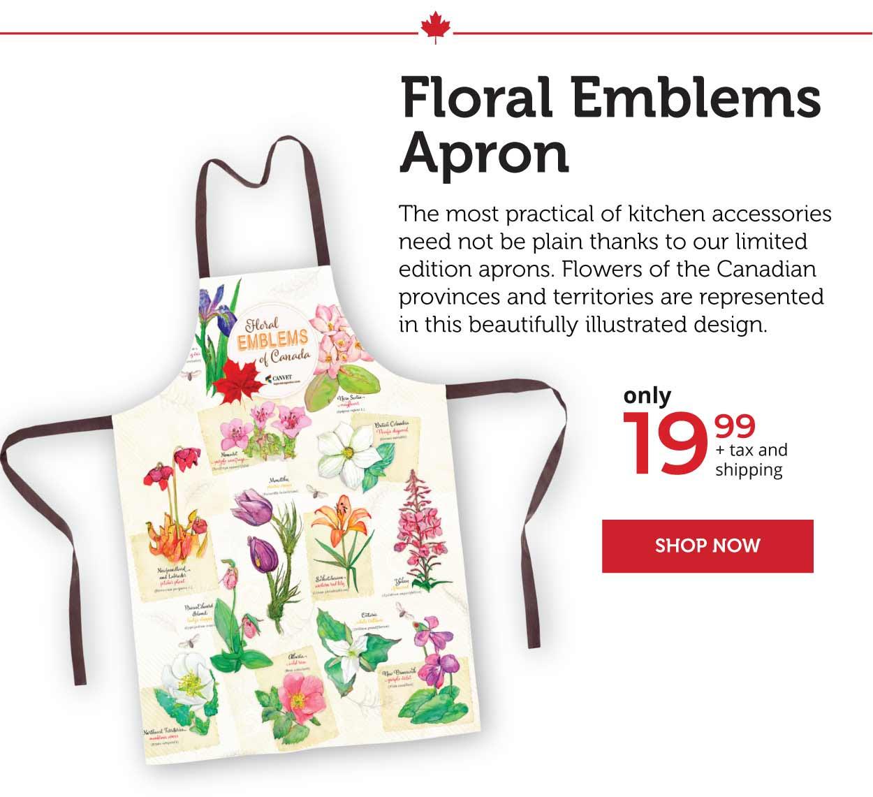 Floral Emblems Apron