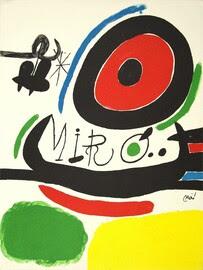 Cartaz para a Exposição de Três Livros de Joan Miro em Osaka
