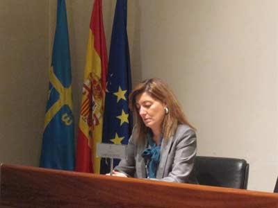 La consejera de Bienestar Social y Vivienda del Gobierno de Asturias, Esther Díaz.