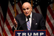 Rudolph W. Giuliani, a former mayor of New York, spoke last week at a Trump campaign rally in Council Bluffs, Iowa.