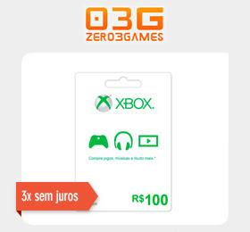Microsoft Gift Card R$ 100 Xbox Live Brasil