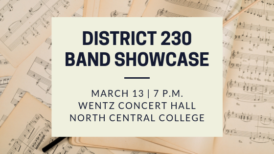 District 230 Band Showcase logo