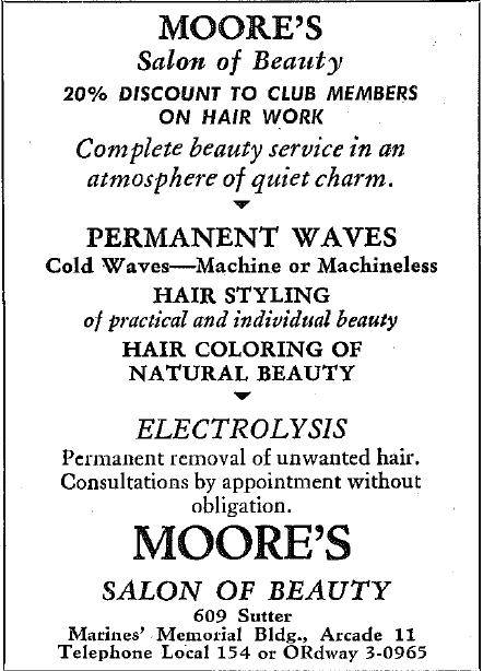 Moore's Salon Ad