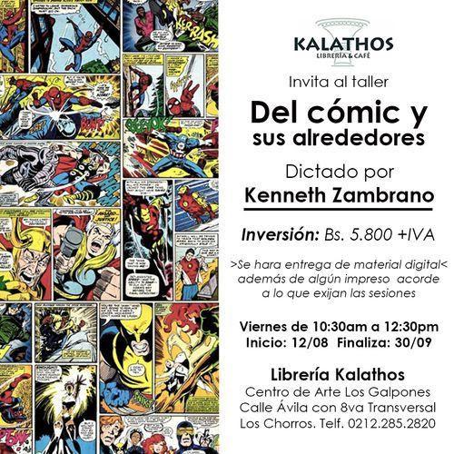 """Taller """"Del cómic y sus alrededores"""", por Kenneth Zambrano"""