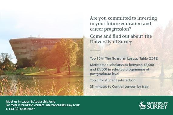 University of Surrey Visiting Abuja and Lagos this June