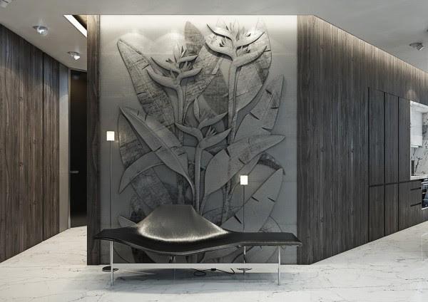 Ένα από τα πιο μοναδικά χαρακτηριστικά σε αυτό το δωμάτιο είναι το εντυπωσιακό ξυλόγλυπτο τείχη, τα οποία διαθέτουν τα πουλιά του παραδείσου λουλούδια σε πλήρη ανακούφιση.