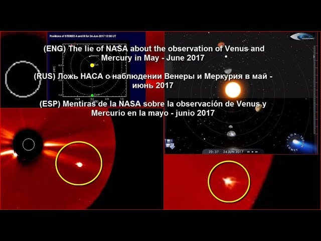 The lie of NASA about the observation of Venus and Mercury in May - June 2017 Sddefault