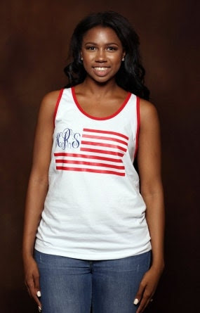 Monogram Flag Tank - American  Apparel Tank - Custom Tank