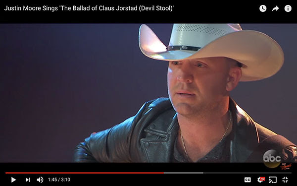 Justin Moore Sings 'The Ballad of Claus Jorstad (Devil Stool)'