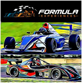 Formula Experiences logo with cars