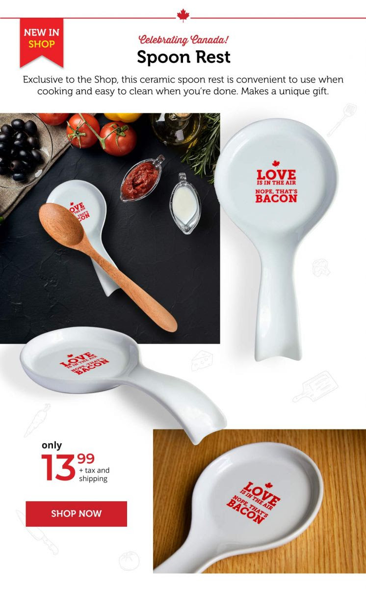 O Canada Spoon Rest - Love is in the Air - Nope, That's Bacon