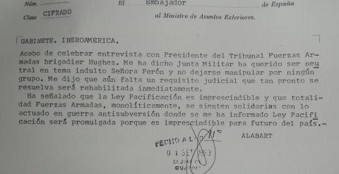 Cable embajador dictadura argentina