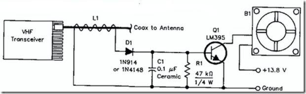 Circuito simples de Ventoinha Automática para Transceptores