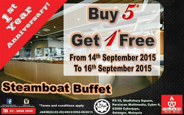 Promosi 3 hari Steamboat Buffet