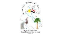 El logotipo  del próximo viaje del Papa a Irak