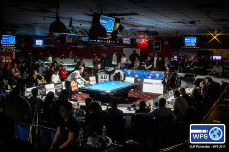 Steinway Billiards in the Queens area of New York was packed for the last day's semis and final.