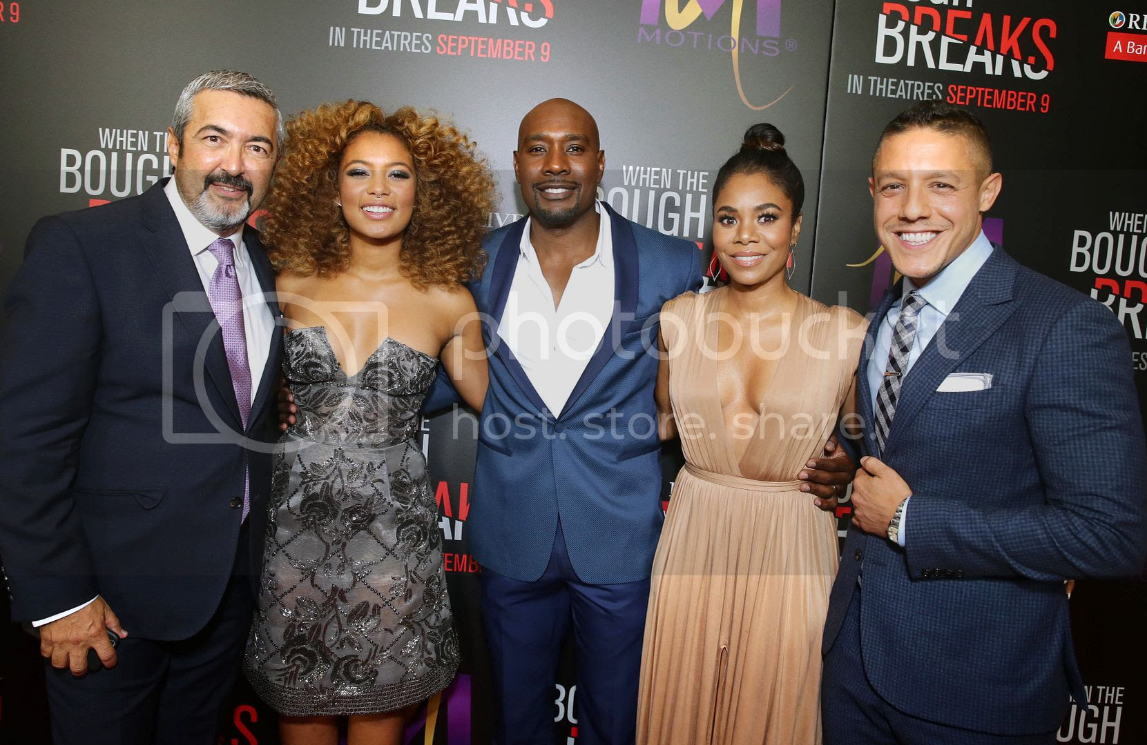 "Morris Chestnut, Sanaa Lathan and the cast and producers of ""When the Bough Breaks"" Photo Credit Screen Gems"