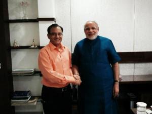 Dr. Sharad Thakar with Modi