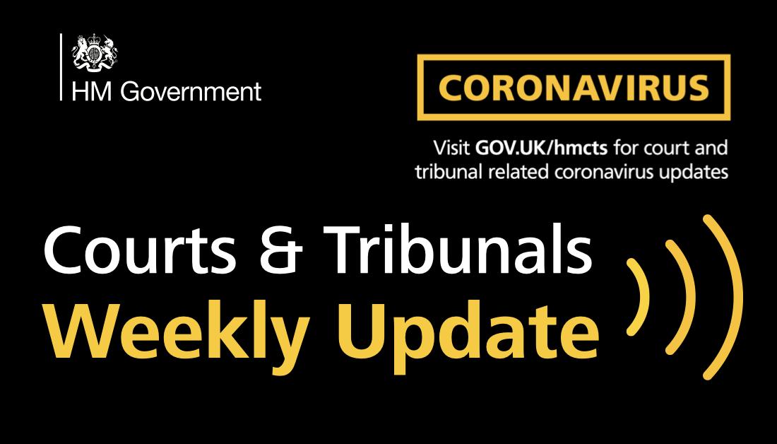HMCTS weekly operational update during coronavirus outbreak