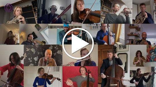 L'Orchestre philharmonique de Rotterdam joue L'Hymne à la joie de Beethoven