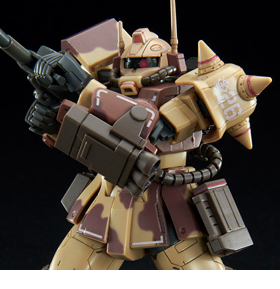 Gundam HG 1/144 Zaku Desert Type (Double Antenna Type) Exclusive Model Kit