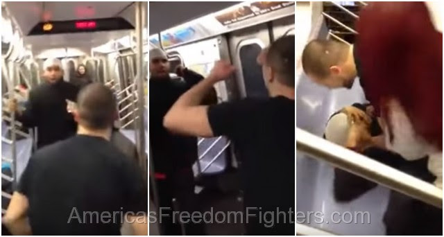 CENSORED VIDEO: Muslim THUG Tries To Attack U.S. Marine On N.Y. Subway – INSTANTLY Regrets It