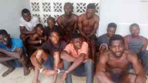The 11 suspects arrested in Ajah.