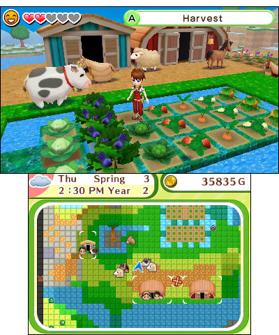 Exclusive to the Nintendo 3DS system, Harvest Moon: Skytree Village lets players revive the land and ...