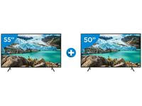 "Smart TV 4K LED 55"" Samsung UN55RU7100GXZD"