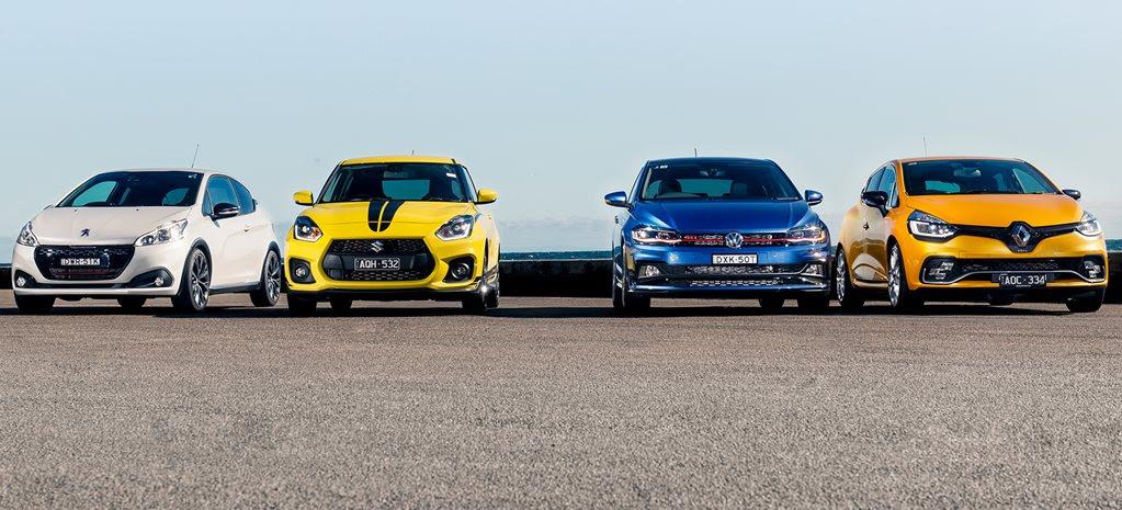 Volkswagen Polo GTI vs Renault Clio RS vs Suzuki Swift Sport vs Peugeot 208 GTi comparison review