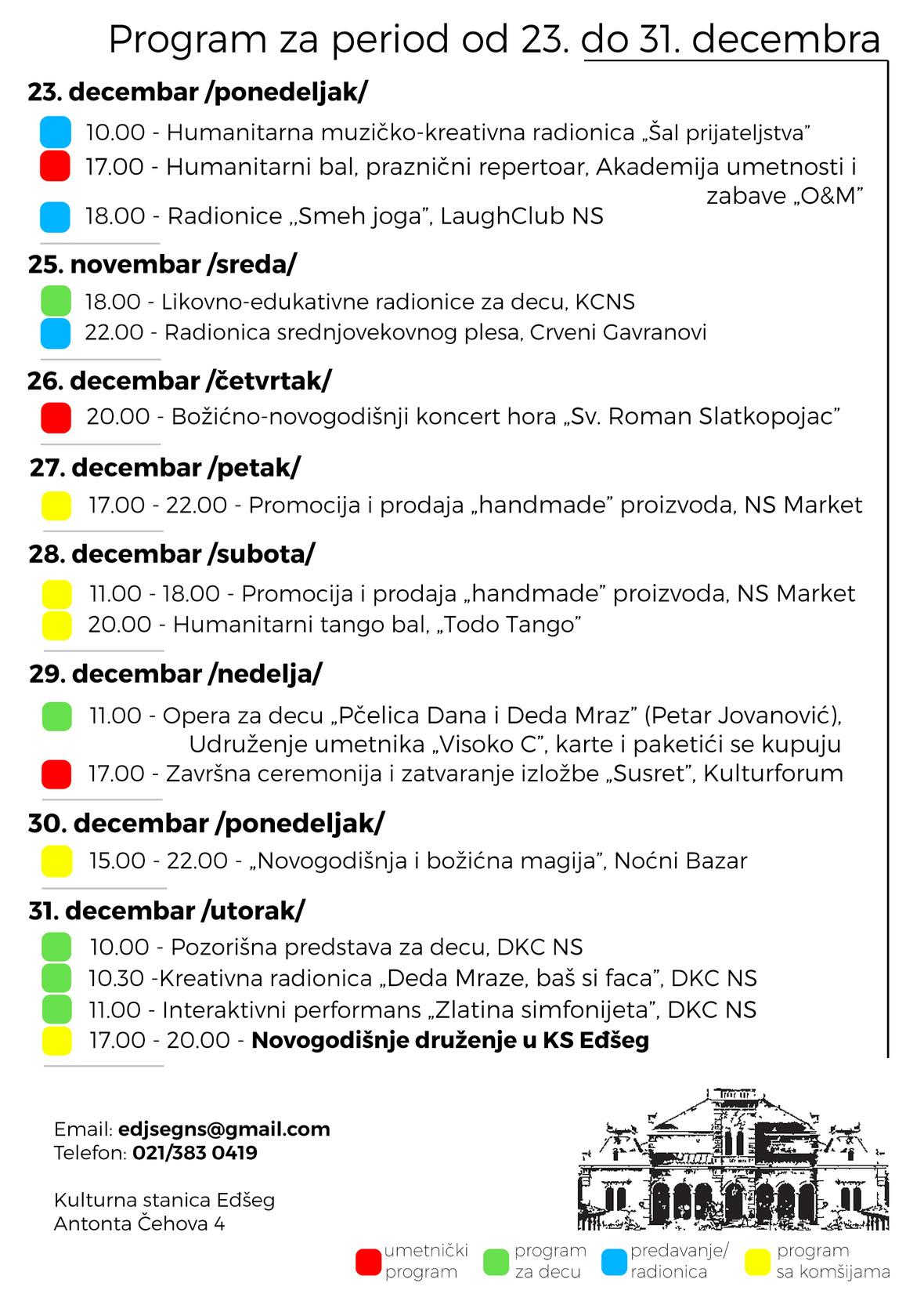 KS Eđšeg | program do 31.12.