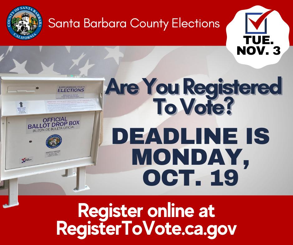 Voter Registration Deadline Graphic