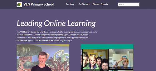VLN Primary snap shot of new web page