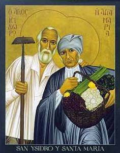 Święty Izydor Oracz z żoną - bł. Marią