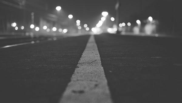 Lane Lines at Night