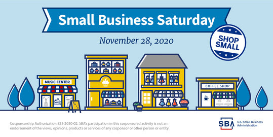 Small Business Saturday, November 28, 2020