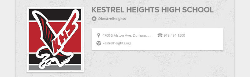 KESTREL HEIGHTS HIGH SCHOOL @kestrelheights 4700 S Alston Ave, Durham, NC, United States...